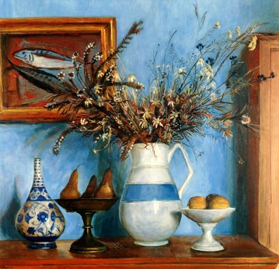 Margaret Olley - 'Hawkesbury Flowers and Pears'